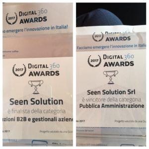 Seen Solution Vince i Digital360 Awards