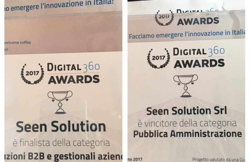 Seen Solution Vince i Digital360 Awards
