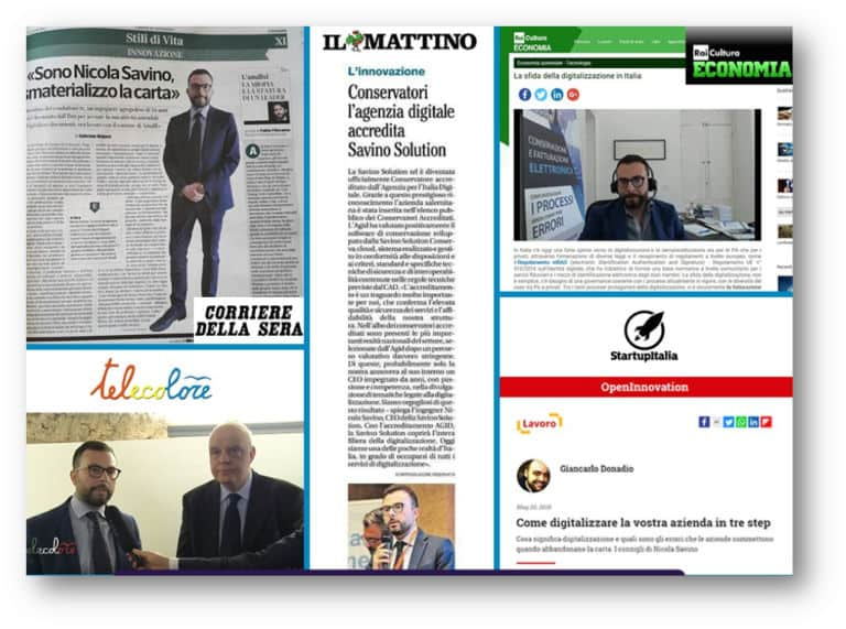 Articoli di giornali che parlano di Nicola Savino