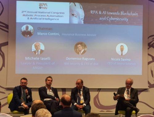 """Nicola Savino relatore al congresso nazionale di """"RPA Italy"""" (Robotic Process Automation) a Milano"""