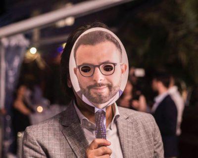 Digital Day 1ª Edizione - L'avvocato Pietro Montella con la maschera di Nicola Savino