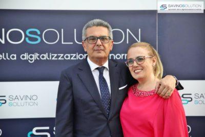 Digital Day 2ª Edizione - Il presidente del Gruppo SIT di Confindustria Salerno Edoardo Gisolfi con la moglie Carolina Franchino