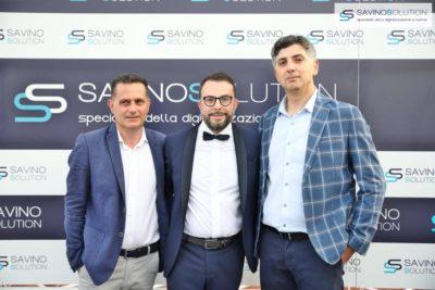 Digital Day 2ª Edizione - Nicola Savino (centro) con il docente Unisa Ivan Visconti (destra)