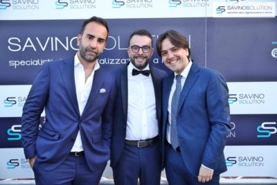 Digital Day 2ª Edizione - Nicola Savino (centro) e l'avvocato Pietro Montella (destra)