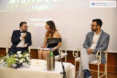 Digital Day 2ª Edizione - Nicola Savino (sinistra) con Rossella Pisaturo (centro) e Dante Granese (destra)