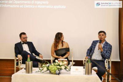 Digital Day 2ª Edizione - Nicola Savino (destra) con Rossella Pisaturo (centro) e il docente Unisa Ivan Visconti (destra)