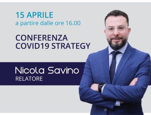 Nicola Savino relatore alla conferenza CoVid19 Strategy
