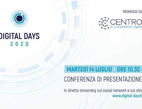 """Martedì 14 luglio presentazione in diretta streaming dell'evento """"Digital Days 2020"""""""
