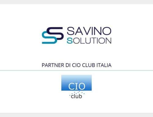 """Savino Solution partner del CIO Club Italia. Nicola Savino: """"Insieme per diffondere cultura della digitalizzazione"""""""