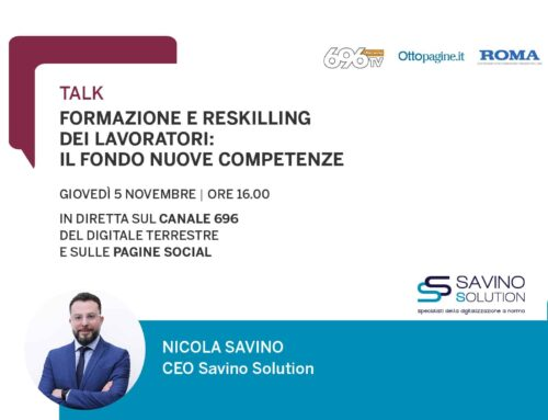 """Nicola Savino ospite del talk """"Formazione e reskilling dei lavoratori: il Fondo Nuove Competenze"""""""