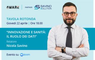 Innovazione e Sanità: il 22 aprile tavola rotonda di AWARE in partnership con Savino Solution